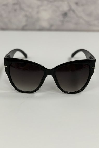 Outline Black Modern Minimal Square Sunglasses