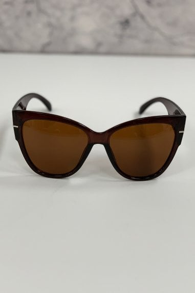 Outline Brown Modern Minimal Square Sunglasses