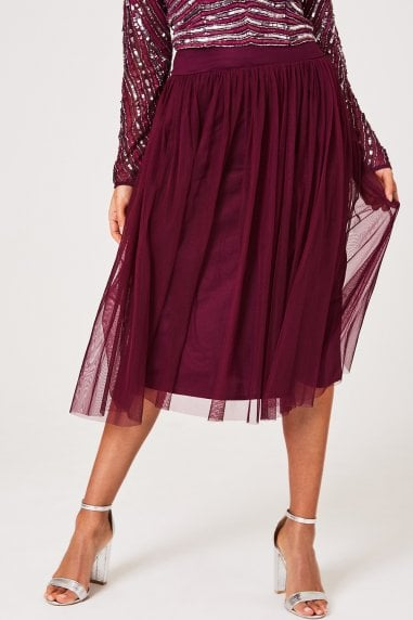 Emma Plum Tulle Skirt Co-ord