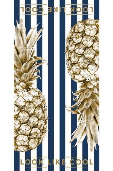 Royal Navy Gold Pineapple Towel