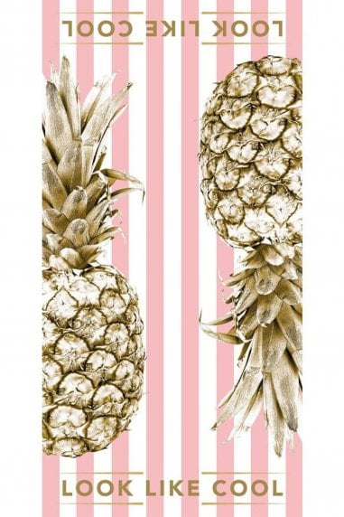 Candy Pink Gold Pineapple Towel