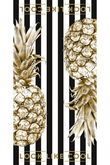 Coco Black Gold Pineapple Towel