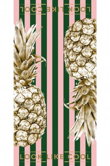 Rainforest Punch Gold Pineapple Towel