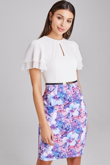 Theale Floral-Print Belted Dress