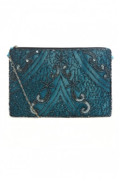 Evelyn Blue Embellished Small Evening Purse