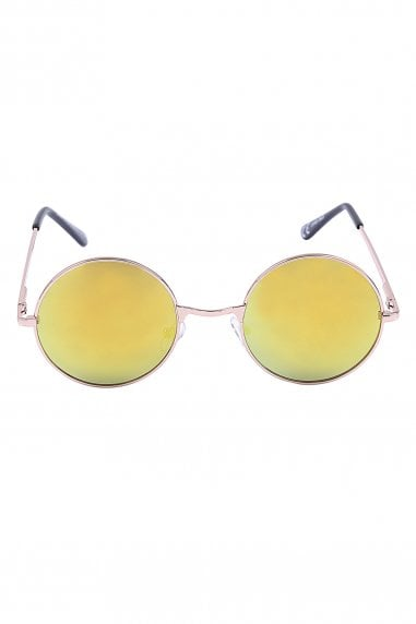 Jordan Yellow Round Festival Ready Sunglasses