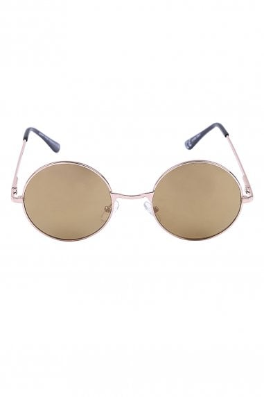 Jordan Gold Round Festival Ready Sunglasses