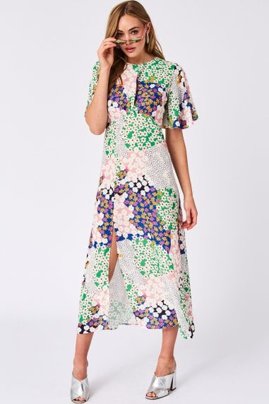 Icon Patchwork Floral-Print Midaxi Dress