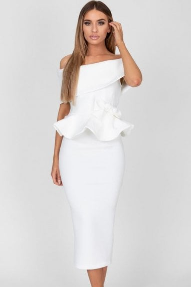 Tammy White Midi Dress
