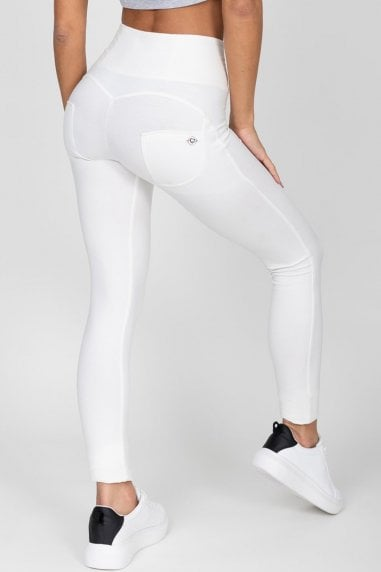 White High Waist Jegging