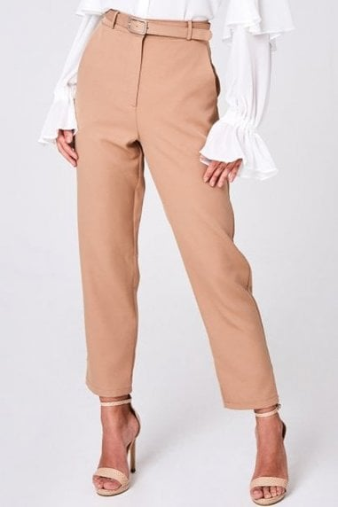Maggie Beige Belted Trousers Co-ord