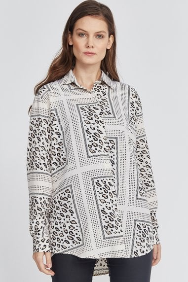 Scarf Print Animal Shirt