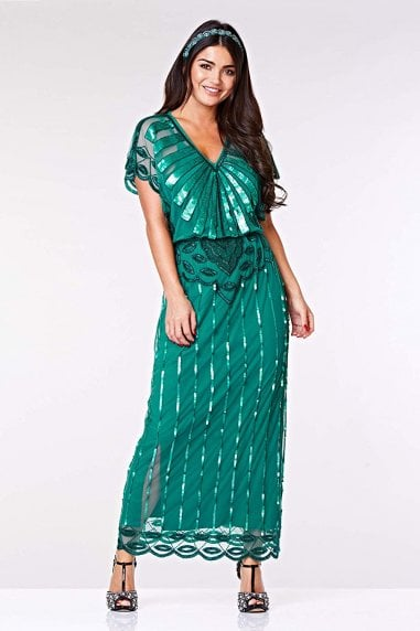 Angelina Maxi Dress in Teal