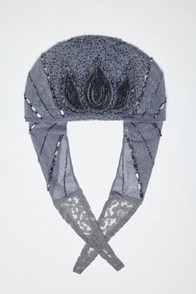 Beatrice Flapper Turban in Lilac