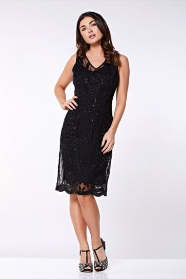 Diana Flapper Dress in Black