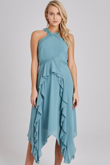 Ffion Fern Frill Midaxi Dress