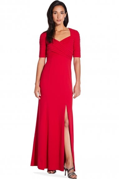 Spiced Apple Crepe Maxi Dress