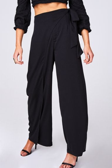 Manifest Black Wrap Trousers