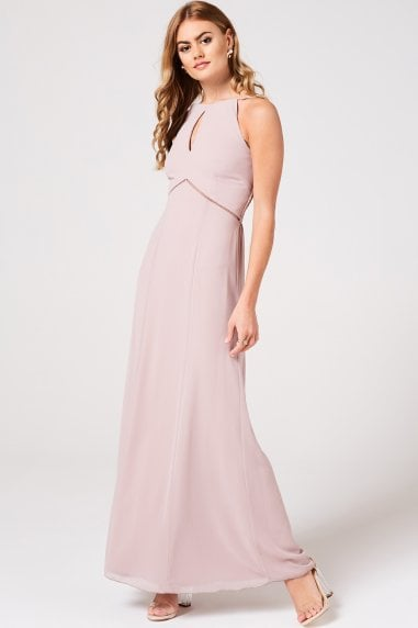 Tabitha Mink Keyhole Maxi Dress