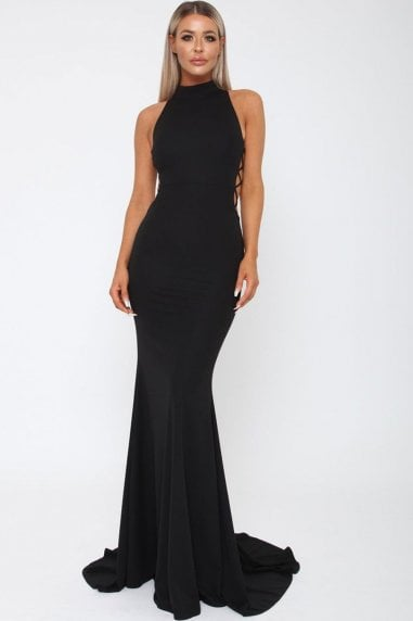 Bella Black Long Gown