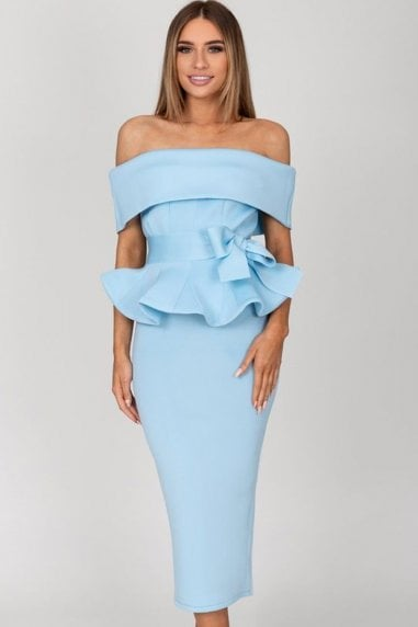 Tammy Baby Blue Midi Dress