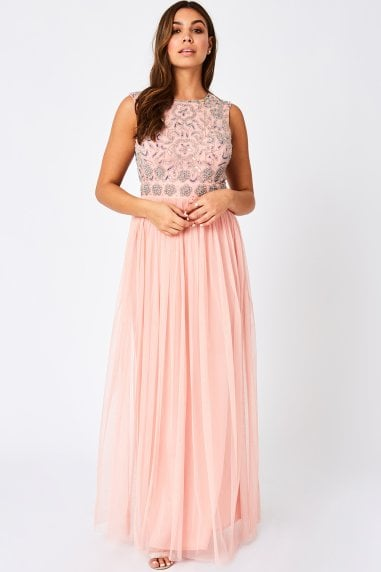 Jill Pink Embellished Maxi Dress