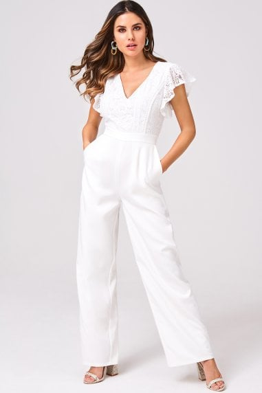 Sensation White Lace Jumpsuit