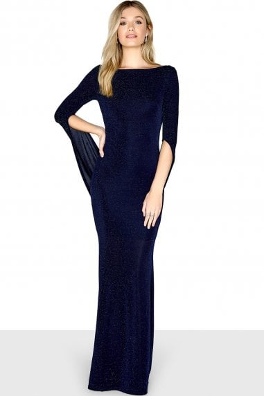 Navy Long Sleeve Maxi