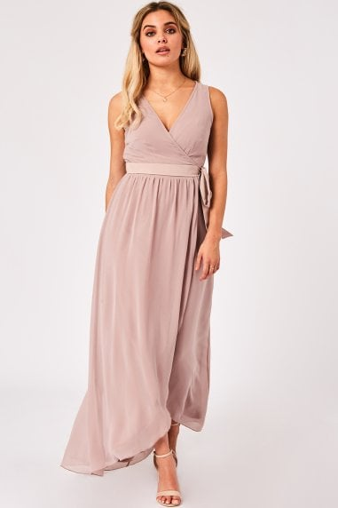 Phoebe Mink Maxi Wrap Dress