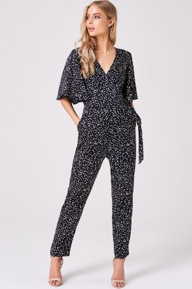 Navy Spot Jumpsuit