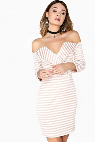 Alexander Lapel V-Cut Dress