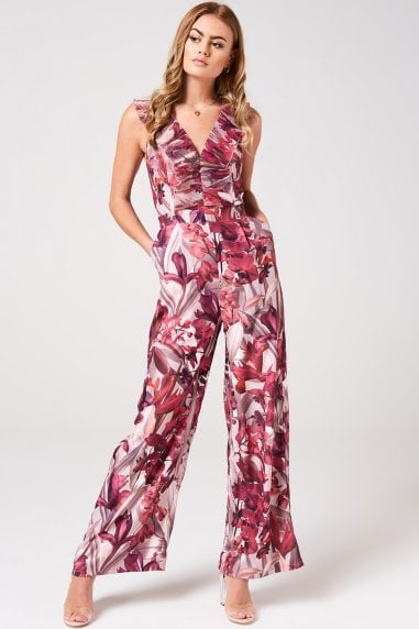 Marlowe Floral Frill Jumpsuit