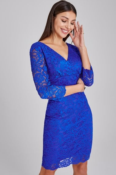 Reading Cobalt Lace Bodycon Dress