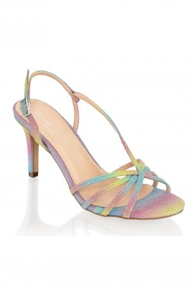 Hattice Rainbow Mid Heel Ankle Strap Caged Sandals