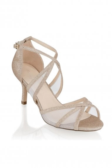 Helka Champagne Extra Wide Fit Ankle Strap Sandals