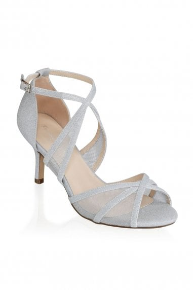 Helka Silver Extra Wide Fit Ankle Strap Sandals