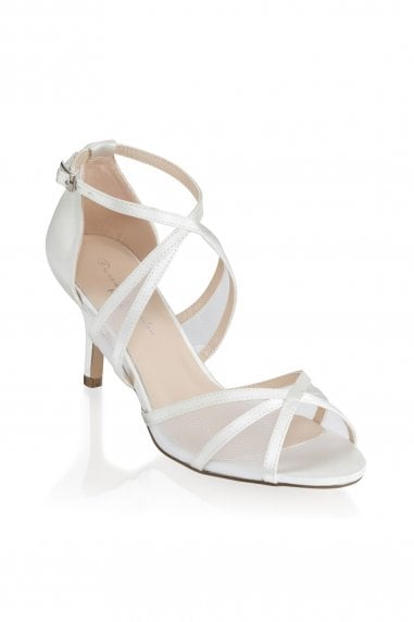 Helka Ivory Extra Wide Fit Ankle Strap Sandals