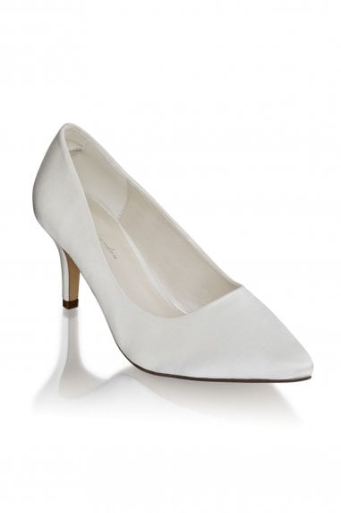Lavine Ivory Wide Fit Low Heel Court Shoes