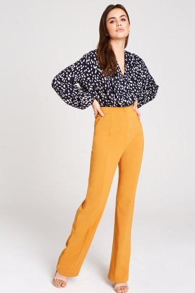 Kinsley Mustard Hem Trousers