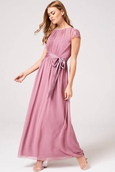 Phoebe Canyon Rose Lace Sleeve Maxi Dress