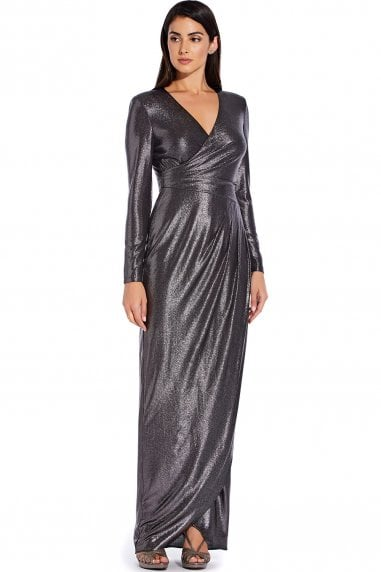 Metallic Jersey Gown