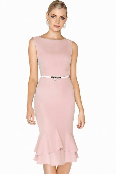 Montpellier Pink Peplum Dress