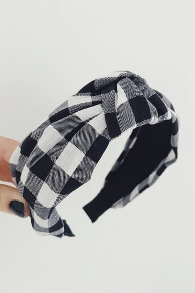 Black Gingham Hairband