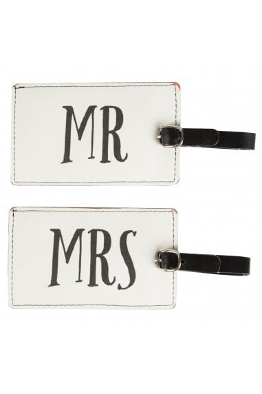 Mr & Mrs Luggage Tag Asstd