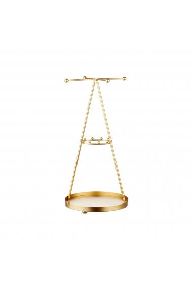 Gold Pyramid Jewellery Stand
