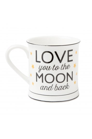 Love You To The Moon And Back Golden Stars Mug