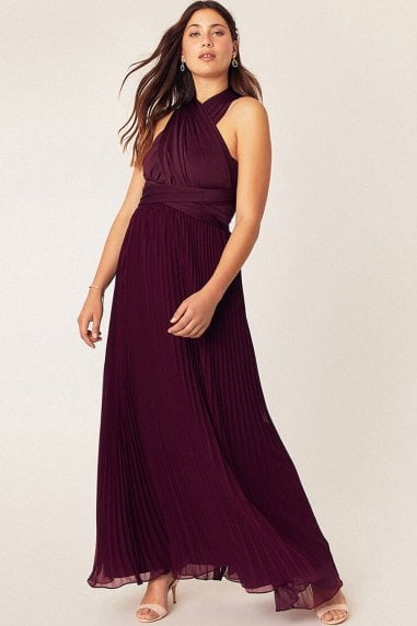 Wear It Your Way Burgundy Maxi Dress