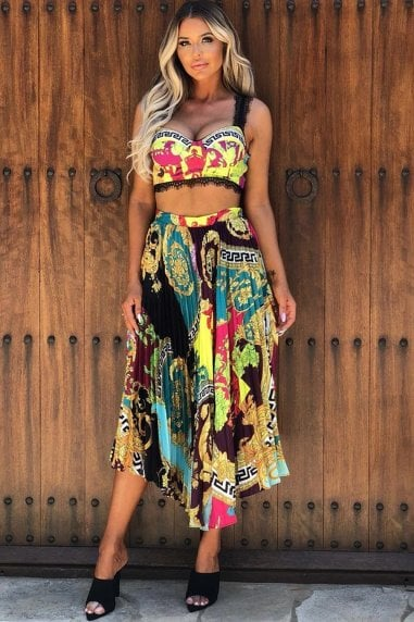 Maura Print Skirt and Crop Two Piece