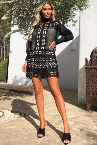 Kora Black Mini Dress