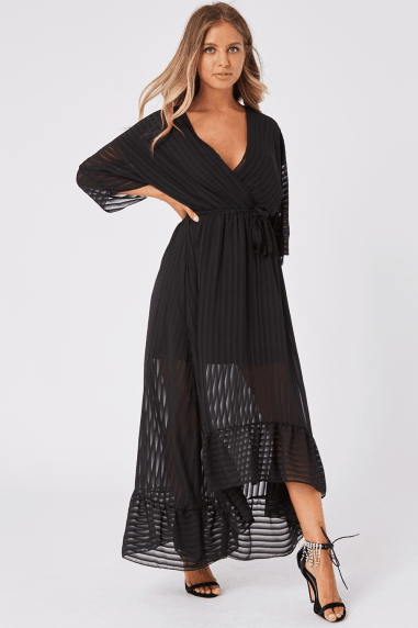 Bailey Black Stripe Maxi Dress